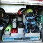 Absicherungsmaterialien, Feuerwehr-Gurte, Atemschutzausrüstung