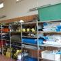 Auffangwanne, Deckenstützen, Schöpfgefäße und Ableitrinnen