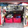Kofferraum mit feuerwehrtechnischer Beladung