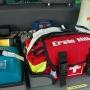 Winkelkopflampen, Gasmessgerät, Erste-Hilfe-Ausrüstung