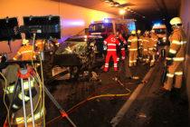Verkehrsunfall im Umfahrungstunnel