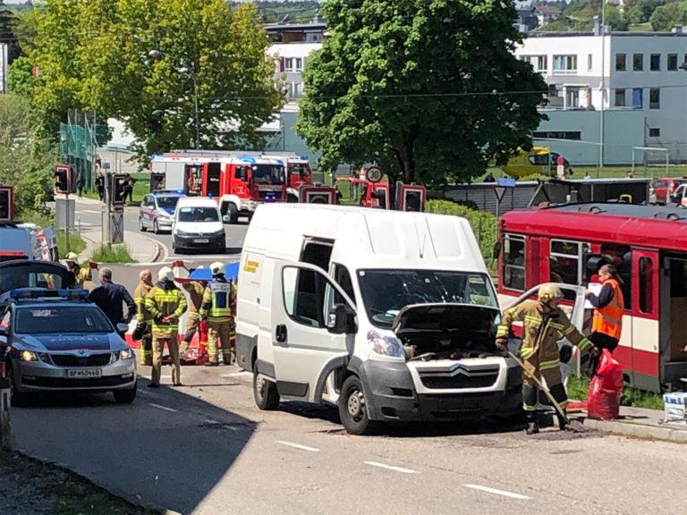 Verkehrsunfall mit der Lokalbahn