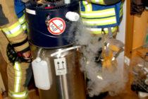Undichte Sauerstoffflasche im Seniorenwohnheim